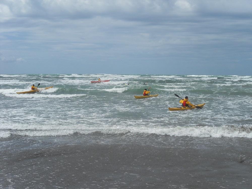 Sea kayak training held in Ulcinj MNE May 31st June 2nd 2013