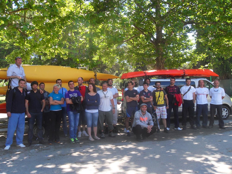 Sea kayak training held in Ulcinj MNE May 31st June 2nd 2013 2
