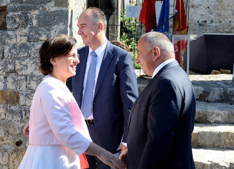 Vujica Lazovic Milena Harito minisstarka Republike Albanije