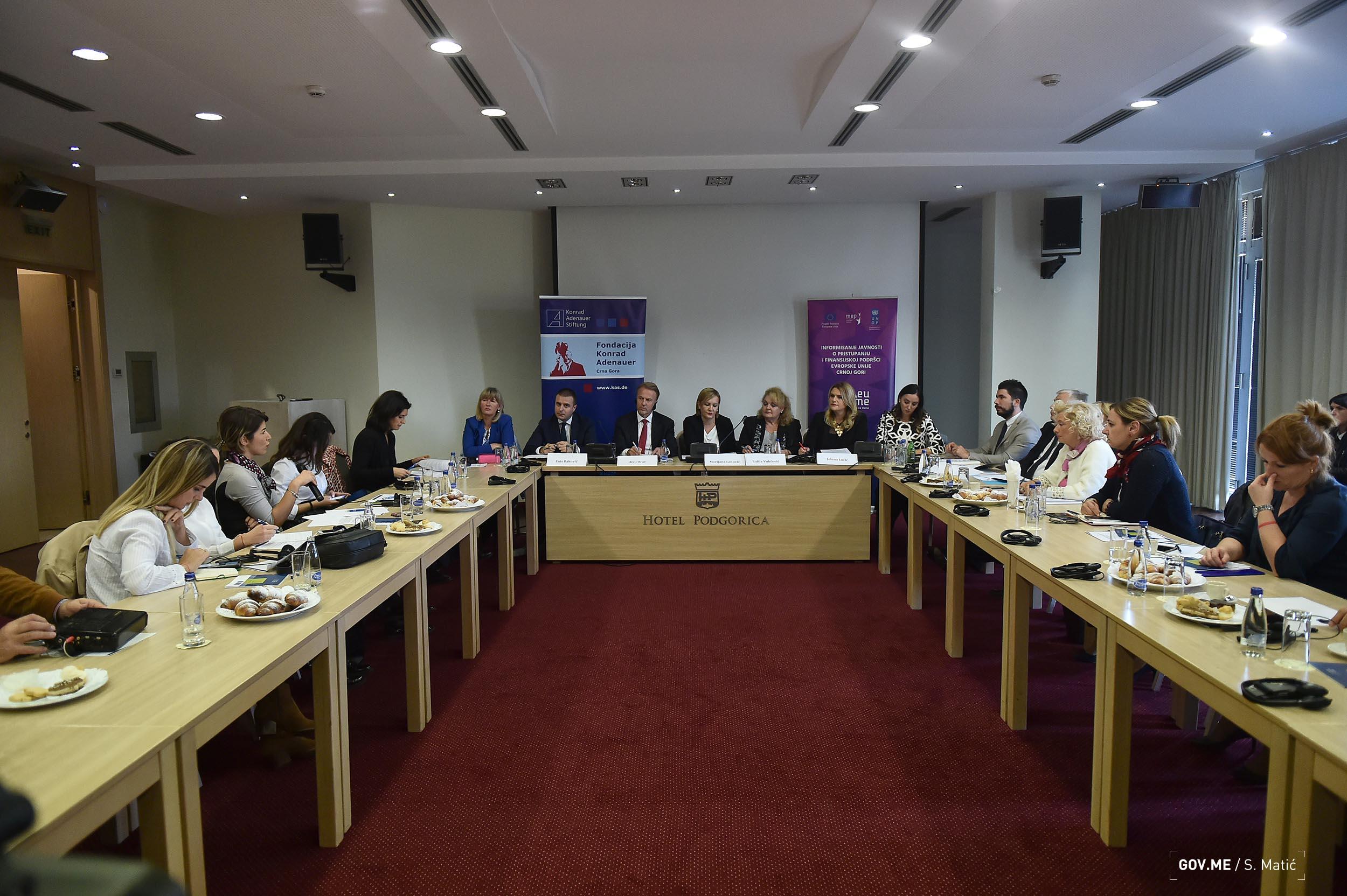 2018 11 13 Konferencija za medije o nalazima iz Radnog dokumenta EK o stanju u poglavljima 23 i 24 u Crnoj Gori   FOTO (1)